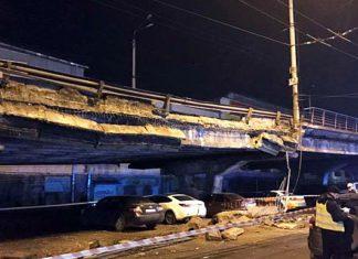Шулявский мост обвалился в Киеве. Главные новости сегодня