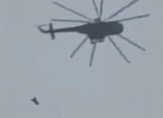 Сирия. Сброс бочковой бомбы с вертолета. Главные новости сегодня