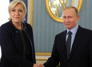 антиукраинские фашисты Марин Ле Пен и Владимир Путин. Главные новости сегодня