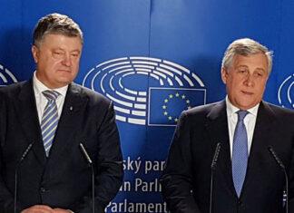 Петр Порошенко и Антонио Таяни. Есть безвиз для Украины. Главные новости Украины сегодня без цензуры