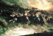 Peter Nicolai Arbo. Wild Hunt of Odin. 1872. Главные новости Украины сегодня без цензуры
