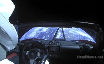 Вид на Землю из Tesla Roadster. Главные новости Украины сегодня без цензуры