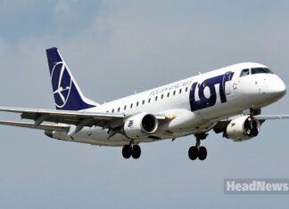 самолет авиакомпании LOT. Главные новости Украины сегодня без цензуры