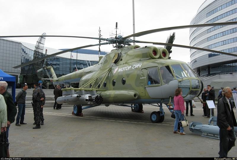 Украинский вертолёт Ми-8МСБ-В производства «Мотор Сич». Главные новости Украины сегодня без цензуры