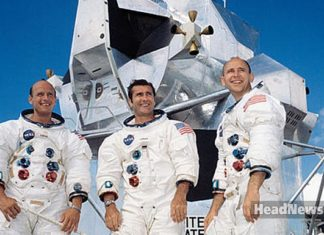 Apollo12: Charles Conrad, Richard Gordon, Alan Bean