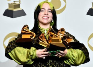 Billie Eilish 5 Grammy
